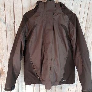 LL Bean brown winter Primaloft jacket coat sz Lg